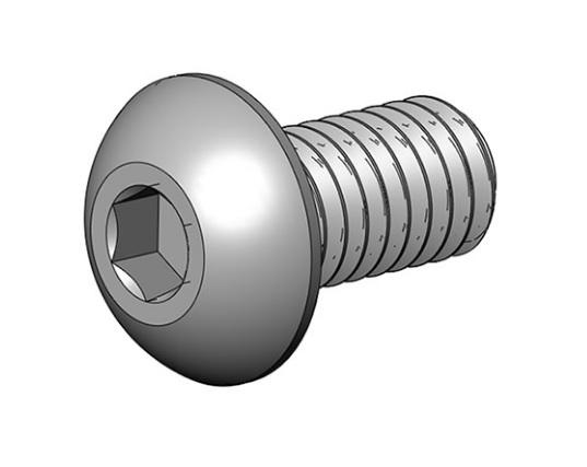 M4x8 mm Button-Head Socket Cap Screw photo
