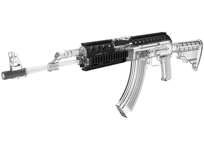 Chaos Saiga Rifle AK Titan Quad Rail - Milled 4Shooters