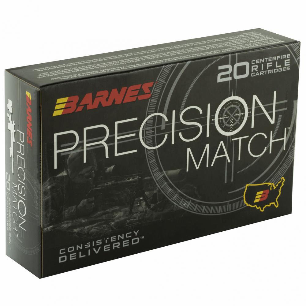 Barnes Precision Match Boat Tail 338 Lapua 300 Grain 20